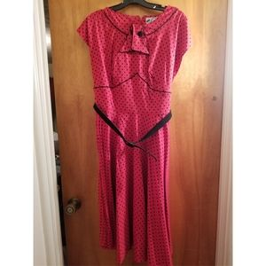 Hell Bunny Red and Black Polka Dot Cap Sleeve Nore